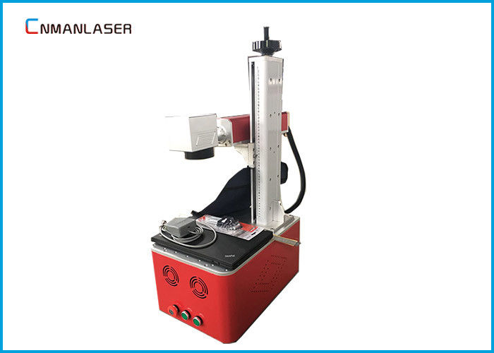 20W Portable Fiber Laser Marking Machine 20kHz -100kHz With Computer