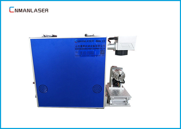 Automatic Small Scale CO2 Laser Marking Machine 0.01mm Precision For Led Bulb Logo