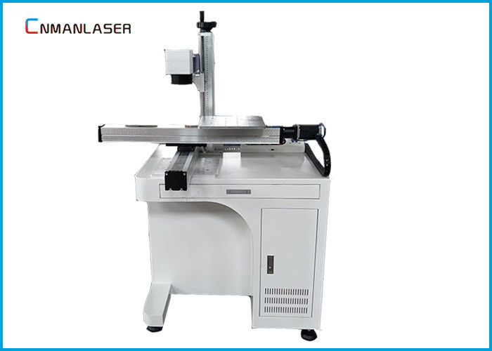 Optical Fiber Metal Laser Marking Machine For Bar Code Static Metals , 2D Working Table